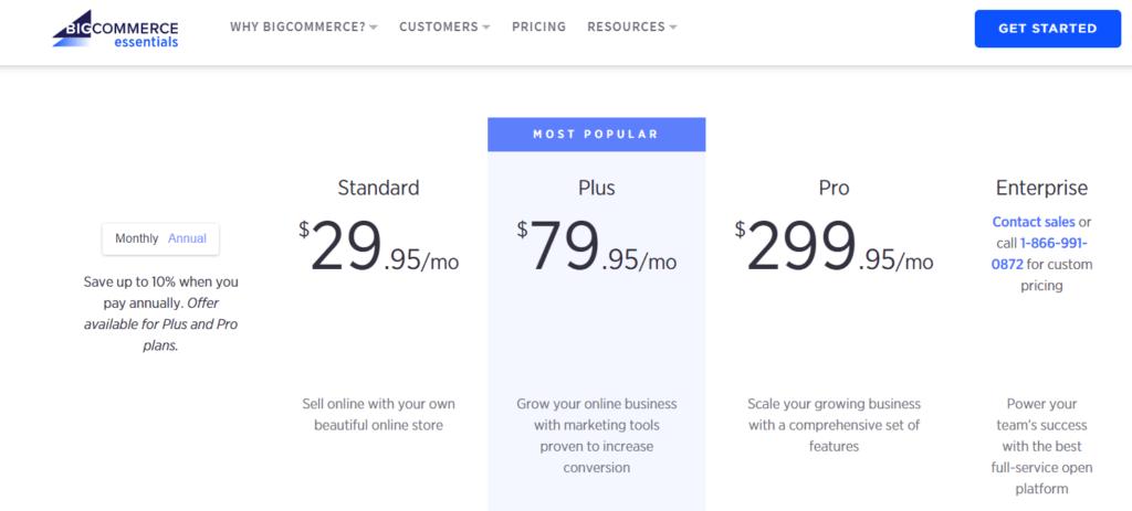 Woocommerce Vs. Bigcommerce Pricing