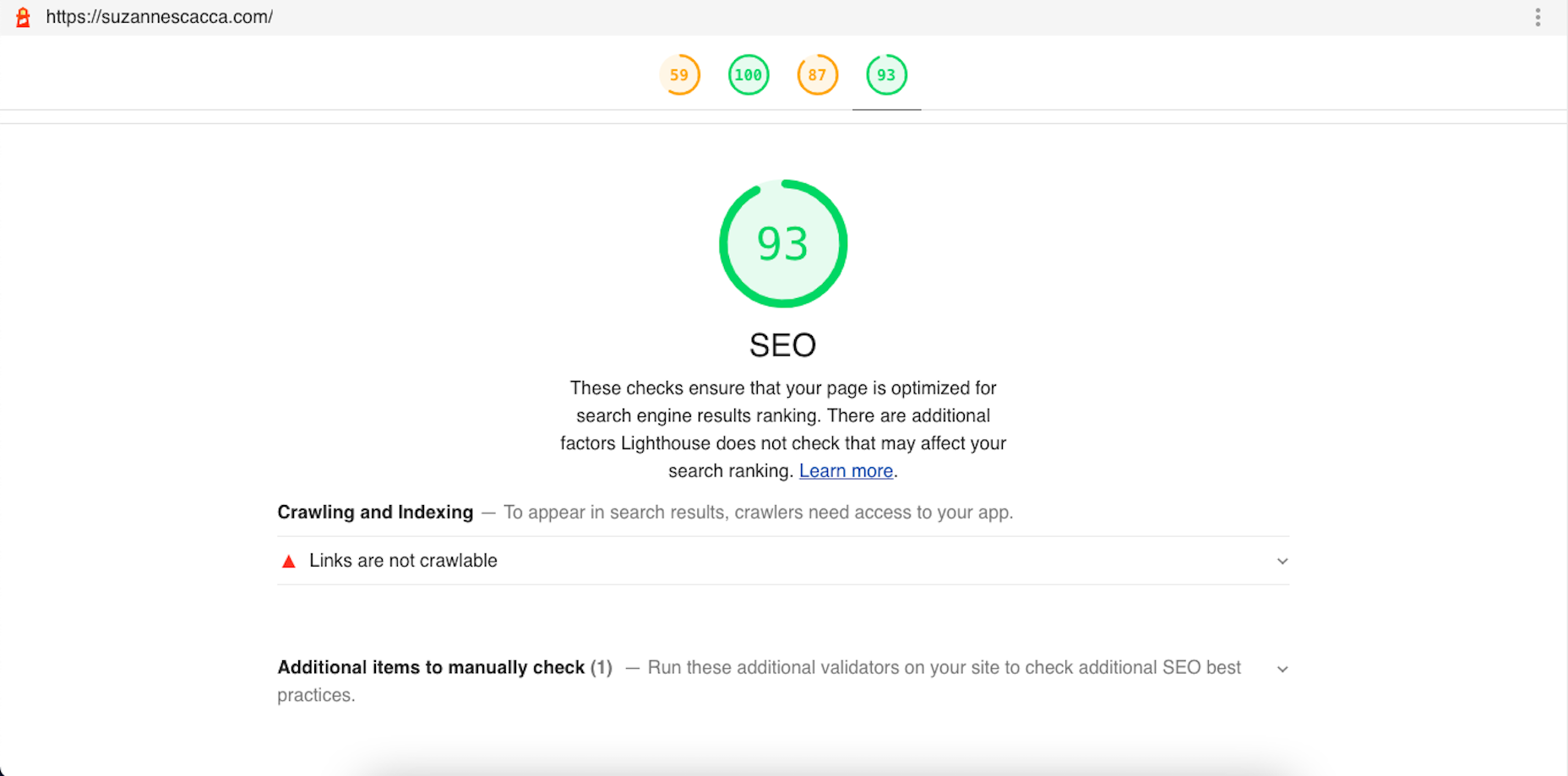 A Sample Core Web Vitals Seo Report With Suggestions