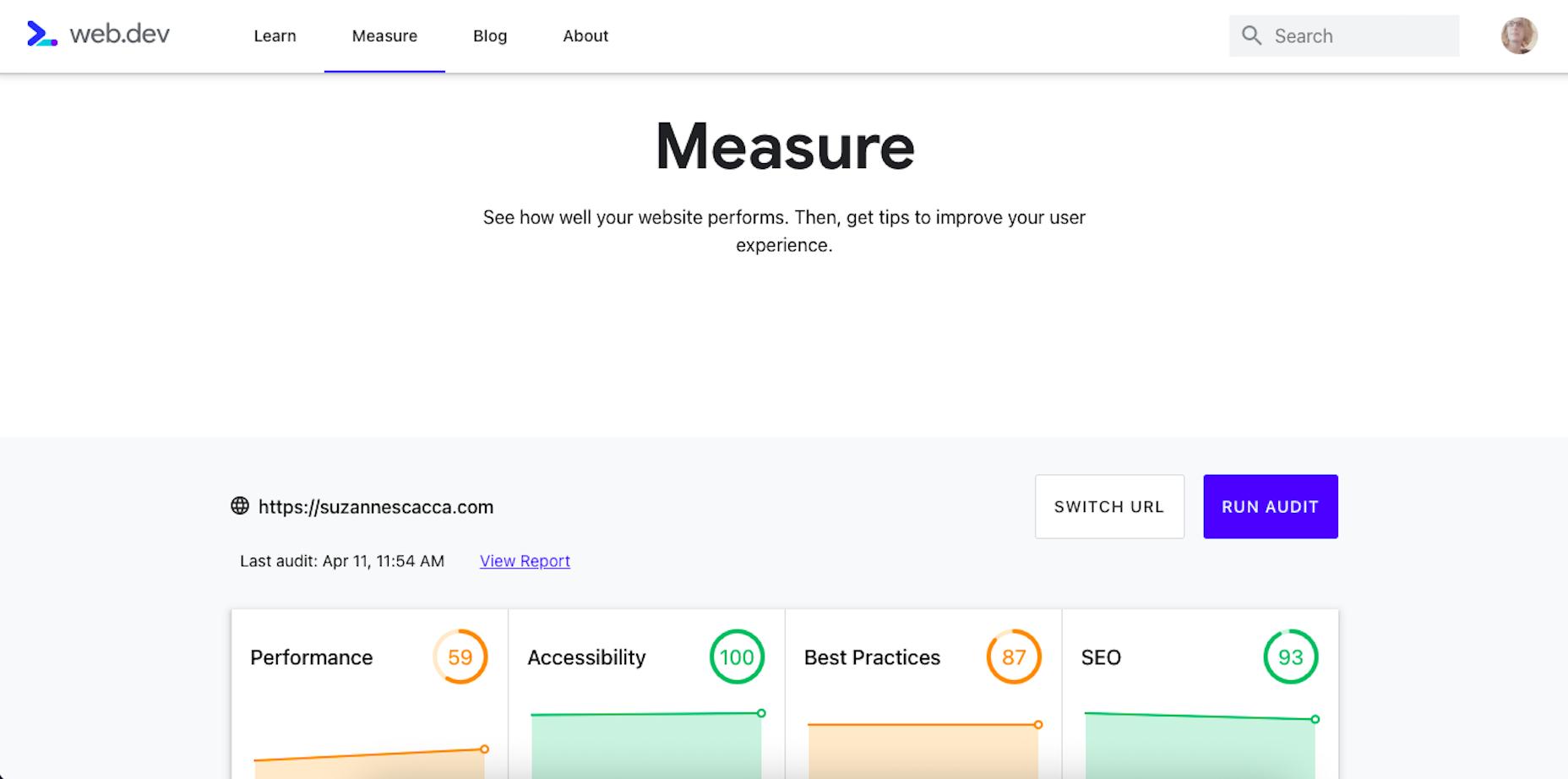 A Sample Audit Using Core Web Vitals